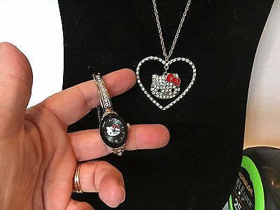 Hello Kitty Child's Watch and Necklace