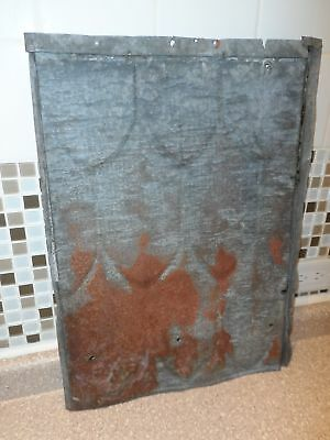 "5 Vintage Fish Scale Tin Roofing Shingles/Sheets 22.75"" x 16.5"" Tin-Roof-Rusty!"