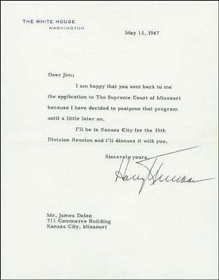Harry S Truman - Typed Letter Signed 05/12/1947