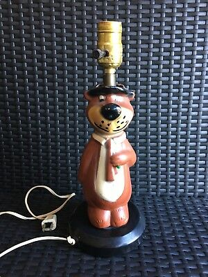 1960s Rare Yogi Lamp Without Shade, Works! Hanna Barbera Vintage Original