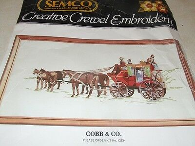 Semco Creative Crewel Embroidery Kit - Cobb & Co