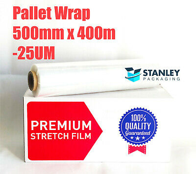Pick Up- 1x Roll Stretch Film 500mm x 450m 23um Clear Hand Pallet Wrap Wrapping