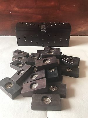 WILLIAM SPRATLING Dominoes Set Rosewood & Silver