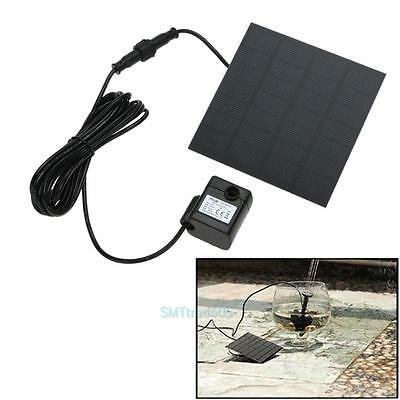 Solar Powered Fountain Water Pump Panel Kit Pool Home Garden Fish Pond Watering