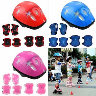 7Pcs Kids Roller Skating Helmet​ Knee Elbow Wrist Pad Protective Gear Sets new