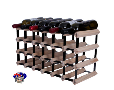 24/21 Bottle Timber Wine Rack -NATURAL PINE- Diy Kit- Free Postage