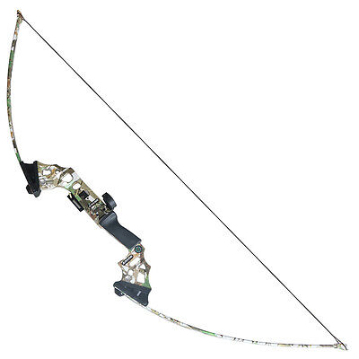 Archery Straight Bows Hunting Take down Bow Right Hand Longbow Camouflage 40#