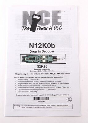 NCE Drop-in Decoder for Kato N-Scale F3 and F7 A and B units