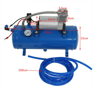 6 Litre Air Compressor - 12V 150 PSI air tank & Hose UK Stock