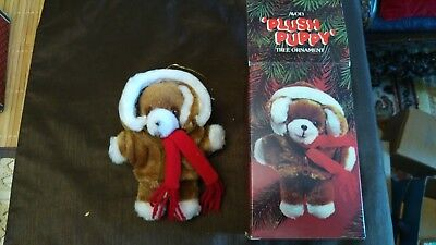 Avon Plush Puppy Ornament x2