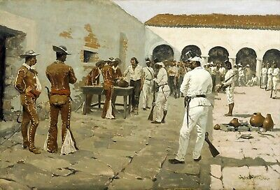 The Mier Expedition by Frederic Remington Giclee Repro Canvas