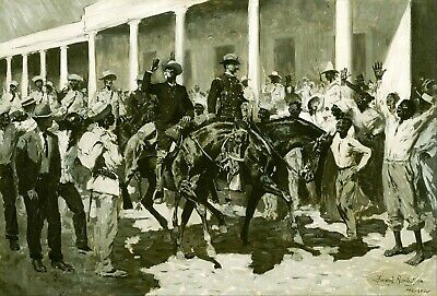 The Return of Gomez to Havana by Frederic Remington Giclee Repro Canvas