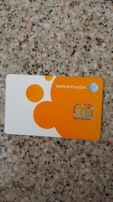 AT&T MICRO 3FF SIM Card • GSM 4GLTE • NEW Genuine • Prepaid GoPhone or Contract