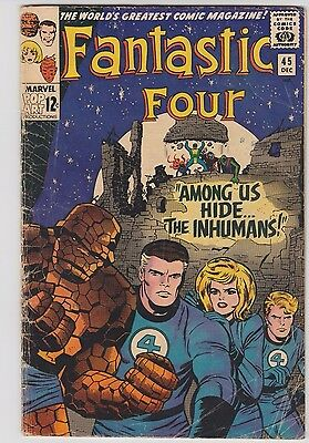 Fantastic Four #45 ('65) 1st app. of the Inhumans! Key Silver! New TV Show! Hot!