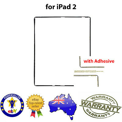 for iPad 2 Digitizer Screen /LCD MID FRAME BEZEL PLASTIC TRIM & ADHESIVE - BLACK