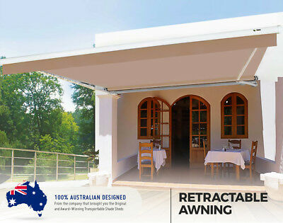 Large Stylish Easy Install Heat Shade, Retractable Awning in Manjimup, WA