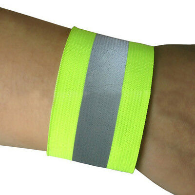2PCS Night Running Reflective Arm Band Belt Strap For Outdoor Cycling Safety