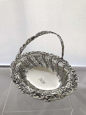 Solid Silver Georgian Style Basket 1913 London The Crichtons