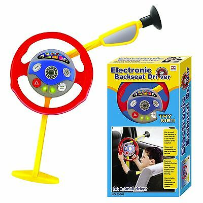Electronic Backseat Driver Kids Play Steering Wheel Real Noises Creative Toys AU