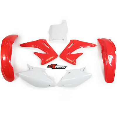 Racetech NEW Mx Honda CRF450R 2004 Motocross Complete Red White OEM Plastics Kit
