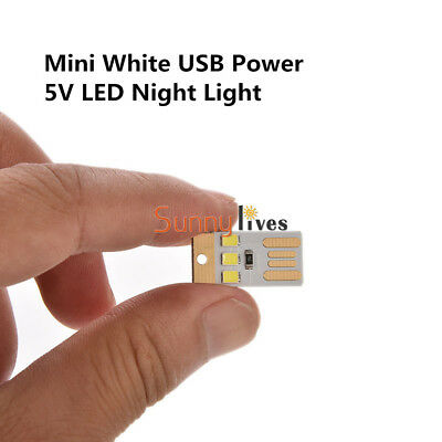 10 Pcs Mini 3 LED USB Night Light Pocket Lamp for PC Laptop Computer