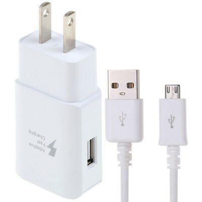 Adaptive Fast Rapid Wall Charger & 2M Micro USB Cable for Samsung Note 4 5 S6 S7
