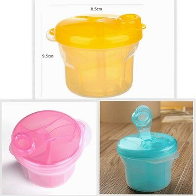 Infant 3 Compartment Formula Milk Powder Dispenser Baby Storage Snack Box AU