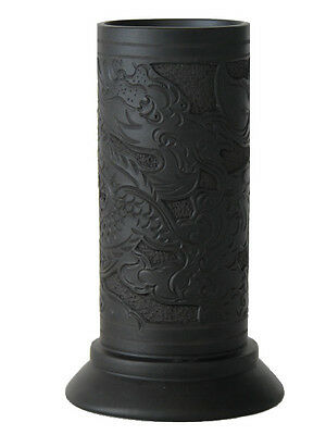 Chinese Black Terra Cotta Pottery – Calligraphy Brush Holder
