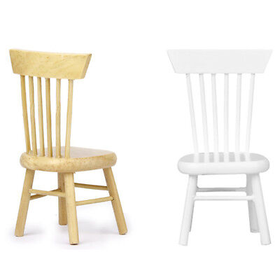 1/12 Dollhouse Miniature Dining Furniture Wooden Chair M7I5 P8K0