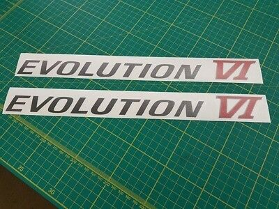 Mitubishi Lancer Evolution Evo 6 side decals stickers graphics replacement