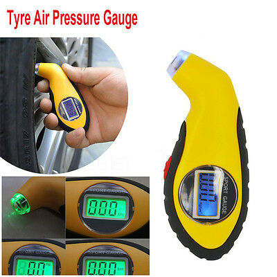 LCD Digital Car Motor Bike Tire Tyre Air Pressure Gauge Tester Tool For Auto