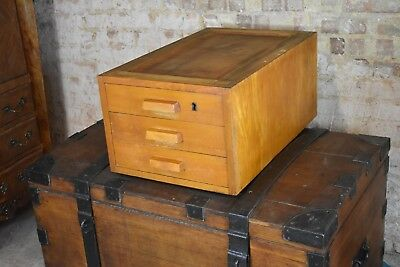 Vintage filing drawers table top cabinet collectors cabinet