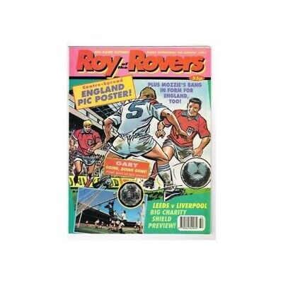 Roy of the Rovers Comic August 8 1992 MBox2791 Leeds vs Liverpool Big charity sh