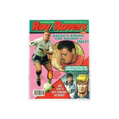 Roy of the Rovers Comic June 27 1992 MBox2791 Gazza's Aiming for success in Ital