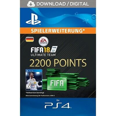 FIFA 18 Ultimate Team - 2200 FIFA FUT Points - offizieller PS4 PSN Code | DE PS4