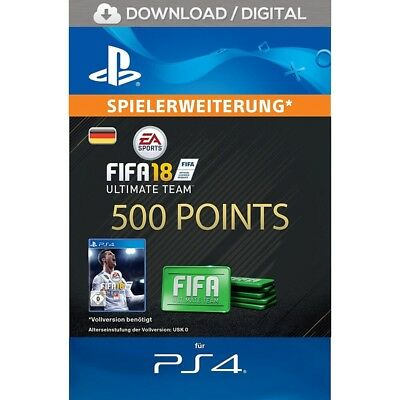 FIFA 18 Ultimate Team - 500 FIFA FUT Points - offizieller PS4 PSN Code | DE PS4