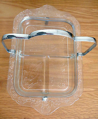 Vintage 1930 39 s chrome and glass art deco butter preserve for Deco style retro