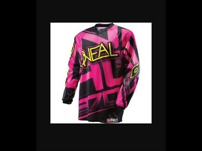 Oneal element ladies pink motocross jersey
