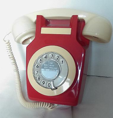 Vintage Rotary Dial Wall Telephone GPO741. Retro Bell Phone, converted.