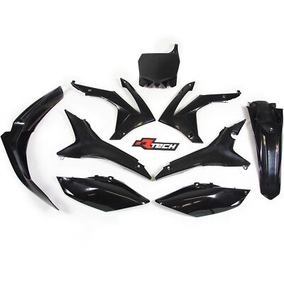 Racetech NEW Mx Honda CRF 250 2014-2017 450 13-16 Motocross Black Plastics Kit