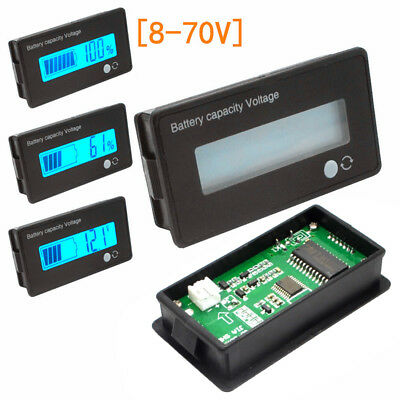 12/24/36/48V Acid Lead Lithium Battery Capacity Meter Tester LCD DC Voltmeter