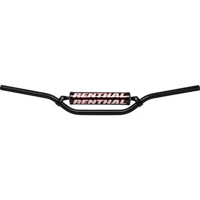 "NEW Renthal Mx 7/8"" Jimmy Button Bend SE Moto Bars Black Motocross Handlebars"