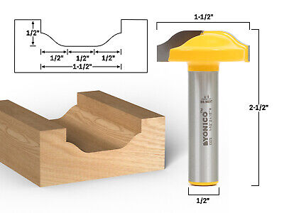"Ogee Panel CNC Cabinet Door Raised Panel Router Bit - 1/2"" Shank - Yonico 13076"