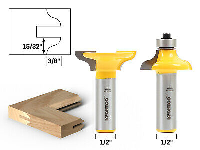 "Medium Ogee Entry Door Profile Router Bit Set - 1/2"" Shank - Yonico 12221"