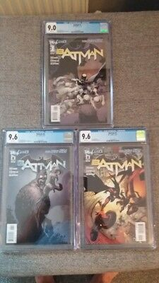 Batman 1,2 and 6, cgc, new 52, court of owls