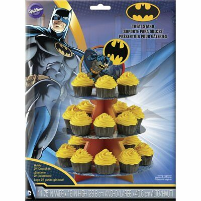 Wilton Batman Cupcake Stand - 3 Tier Cardboard Treat Stand with Topper