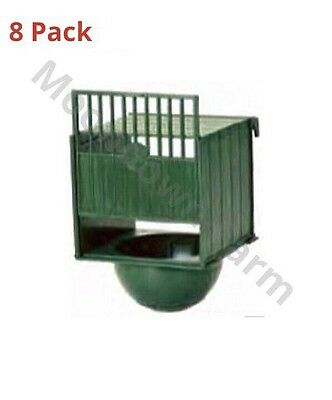 8 x PLASTIC NEST PAN HANGS ON OUTSIDE OF CAGE IDEAL FOR CANARY / FINCHES etc