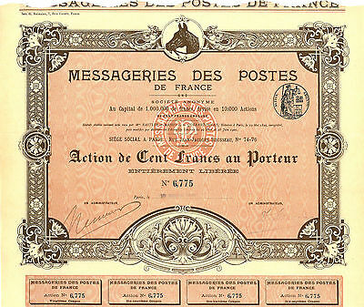 Messageries des Postes de France, 1905 (Imp. Richard)