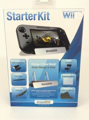 Dream Gear Nintendo Wii U 7 in 1 Starter Kit Stylus HDMI Strap Stand Earbuds NEW