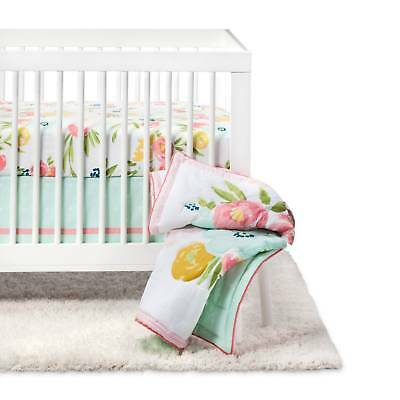Crib Bedding Set Floral Fields 4pc - Cloud Island™ - Pink/Mint